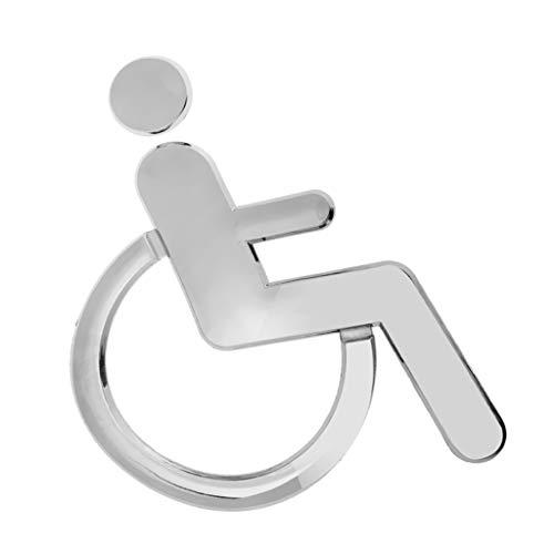 Homyl Rollstuhlfahrer Rollstuhl Behinderten Hinweisschild Aufkleber Sticker für WC Toiletten