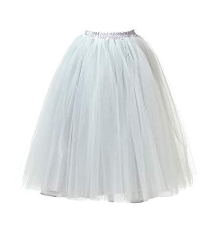 Honeystore Damen\'s Lang Ballet Petticoat Abschlussball Party Zubehör Tutu Unterkleid Rock Grau XL