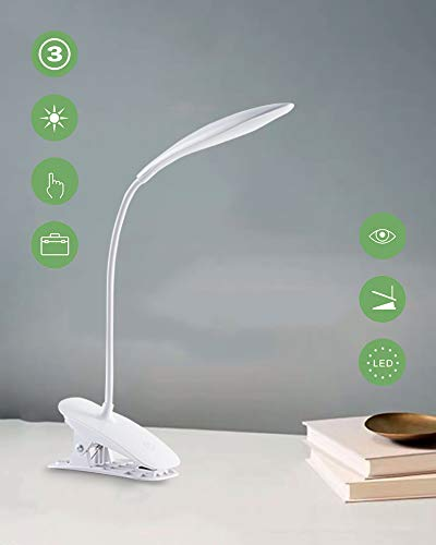 Lampada Libro 20 LED con Clip,Lampada daTavolo,3 Livelli...