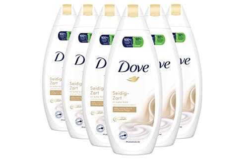 Dove Duschgel Damen 6er Pack Pflegedusche Seidig Zart für Samtweiche Geschmeidige Haut (6 x 250 ml)