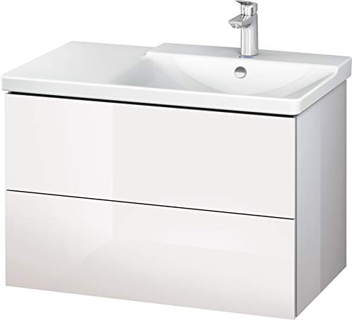 Duravit LC624908585 Mueble Bajo Lavabo L-Cube Suspendido, Blanco Brillo, Grande