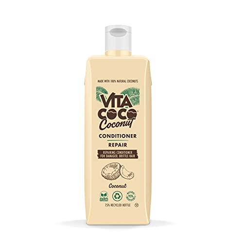 Vita Coco Acondicionador reparador de coco (400 ml) para cabello dañado • Acondicionador con coco orgánico que repara el cabello • Sin siliconas ni colorantes