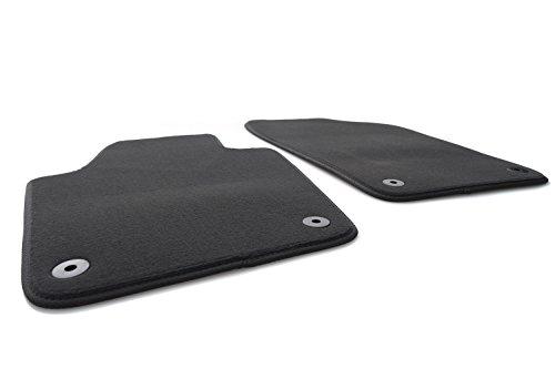kh Teile Fußmatte passend für Fabia II Velours Automatte Premium Qualität 2-teilig vorn schwarz