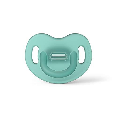 Suavinex Chupete para Dormir Todo Silicona, Para Bebés 0/6 meses, Chupete con Tetina Anatómica SX Pro, Super Blandito y Flexible, Color Verde (307245)
