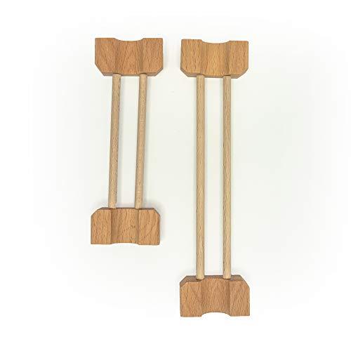 rewoodo KlixxOs Kugelbahn Premium Holzspielzeug aus Deutschland (Einzelteile, Stabbrücke 1x 15cm, 1x 20cm)