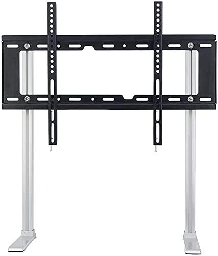 TabloKanvas Soporte de TV de 32 a 55 pulgadas de pie de suelo sin perforaciones Soporte de montaje para TV de escritorio ajustable de altura (tamaño B: