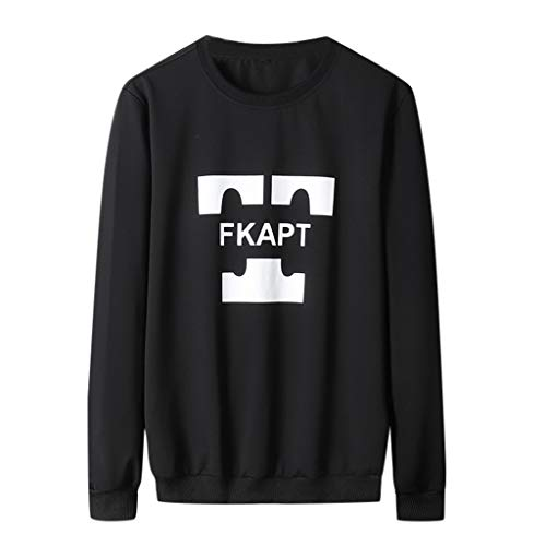 Lowest Prices! Men Crewneck Long Sleeve Graphic Printed Sweaters College Casual Daily Outdoor Fashio...
