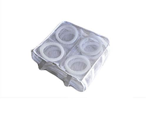 Shocly Schuh-WäSchenetz - Mit ReißVerschluss, FüR Waschmaschine 100% Polyester, 2pcs Weiß