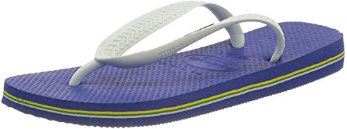 Havaianas Brasil Logo Sandales, Unisexe -Adultes - Bleu - Bleu Marine, 41 EU