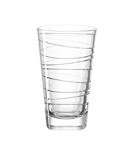 LEONARDO Vario Struktur, Becher groß, Longdrinkglas, klar, 280ml, 019450