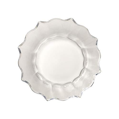 Villeroy & Boch Christmas Glass Accessoires schaal helder, schaal voor koekjes, kristalglas, helder, 25 x 0,85 x 25 cm
