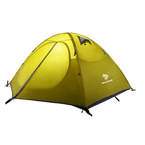 Azarxis Tienda de Campaña de 1-2 Persona Impermeable Ligera Carpa de Mochilero Acampar Senderismo Playa (Verde)