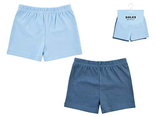 Jacky 2er Pack Shorts für Jungen, Größe: 74/80, Alter: 7-12 Monate, Blau, 6371912