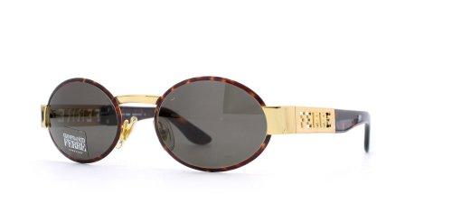 Gianfranco Ferre 368 6SB Braun Gold Rund Zertifiziert Vintage Sonnenbrille für Herren und Damen