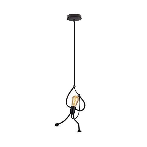 EASTYY Colgante De Metal De Hierro Luz Lámpara De Techo De Dibujos Animados Creativo Araña Negra Moderna Interior Minimalista Instalación De Luz For Habitaciones Loft Estudio Restaurante Vestíbulo E27