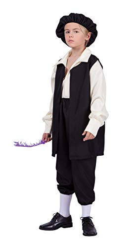 RG Costumes Renaissance Boy Costume, Black/Cream, Medium
