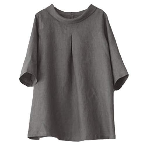 Basic Sommer T-Shirt/Oberteile Kurzarm - Damen Cramberdy T-Shirt Top Kurzarm Sommer Shirt Lose Bluse Tops Damen Sommer Kurzarm T-Shirt Pullover Lässige Oberteil Bluse Shirt Einfarbig Causal Oberteil