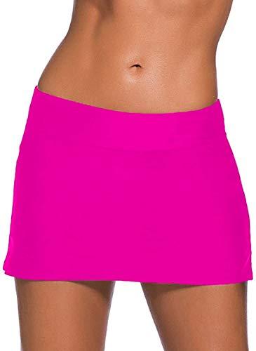 Mujer Falda De La Playa Nadando Figura Clásico De La Optimización De La Falda De Protección UV De Agua del Bikini Falda Bañador Pantalones Casuales De La Moda De Época Skorts S De Las Mujeres