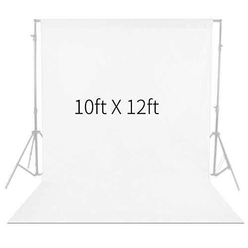 Neewer 3 x 3,6M PRO Photo Studio Stoff Faltbarer Hintergrund für Fotografie, Video und Fernsehen (NUR Hintergrund) - Weiß