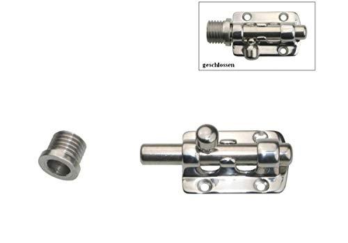 ARBO-INOX® - Grendelriegel - Edelstahl A4 - für schmale Türen - Hochglanz polierte Oberfläche