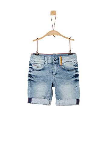 s.Oliver Junior Jungen Hose kurz Jeans-Shorts, 56Z3 blue denim stretch, 92
