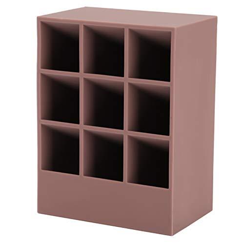 Présentoir à rouge à lèvres tendance - Pratique pour un usage domestique - Boîte à rouge à lèvres à 9 compartiments - Rose et violet