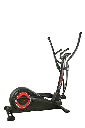 FYTTER Crosser Bicicletta Ellittica con Resistenza Motorizzata, Nero/Rosso