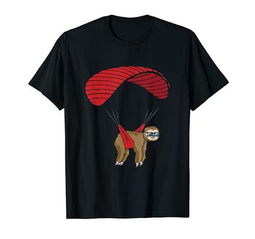 Faultier Paragleiter Gleitschirm Paragleiten Fliegen T-Shirt