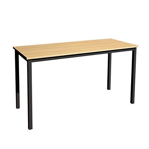 SogesGame Escritorio para ordenador de 160 cm, tamaño XL, para escritorio, oficina, hogar, mesa de juegos, estación de trabajo, madera de nogal, teca, GCP2AC3-160OA-S8-US