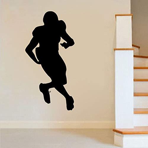 yaonuli Fußballspieler Wandtattoo Sport Home Dekoration abnehmbare Wohnzimmer Schlafzimmer Dekoration Wandbild 105X85cm