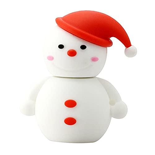 NC Christmas Deer USB Flash Drive 128 GB Pen Drive Cartoon muñeco de nieve regalos árbol de Navidad 4 GB 8 GB 16 32 GB 64 GB Santa Claus Pendrive 16 GB 9