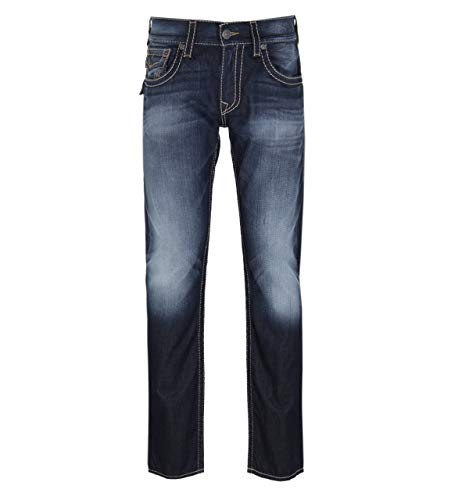 True Religion Straight Fit Dragons Lair Wash Jeans - 33\