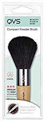 Compact Powder Brush from QVS, one of the leading global beauty experts. Natural hair bristles for a flawless finish. Plump head to diffuse powder evenly Ideal for applying over foundation or dusting on bronzer or blush 100% Satisfaction Guarantee
