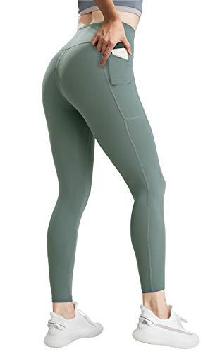 JOFLY Leggins Deportivos Mujer Elásticos, Mallas Deporte de Cintura Alta, Pantalones Leggings Suaves con Bolsillo para Yoga, Correr, Pilates, Fitness y Estiramiento