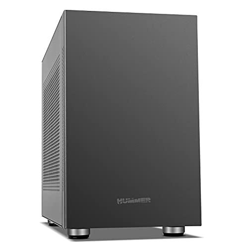 NOX Hummer Vault -NXHUMMERVAULT- Micro Torre Micro ATX-ITX, Capacidad 7 Ventiladores, instalación GPU, 2xUSB 3.0, Filtro magnético Antipolvo, Color Negro