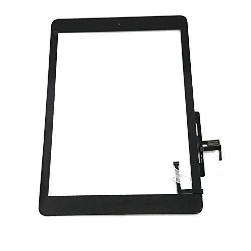 iPad 5 iPad air 1st Black Touch Screen Digitizer Replacement ,Front Glass Assembly -Includes Home Button Camera Holder Pre Installed Adhesive Stickers and Professional Tool Kit