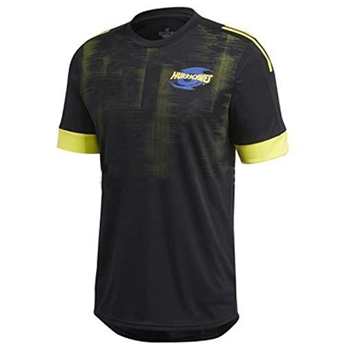 Rugby Trikots Hurricanes 2020 Super Herren T-Shirts American Football Trikots Jugend Kurzarm Freizeit Unterhemden Belüftung Langlebig Schnelltrocknend Fan Geschenk Gr. L, blau