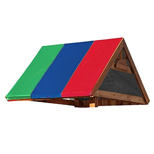 Uxsiya Impermeable 210D Oxford tela accesorios al aire libre multifuncional 132x226cm toldo al aire libre (verde, azul y rojo a juego)