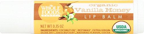 Whole Foods Market, Organic Vanilla Honey Lip Balm, 0.15 oz