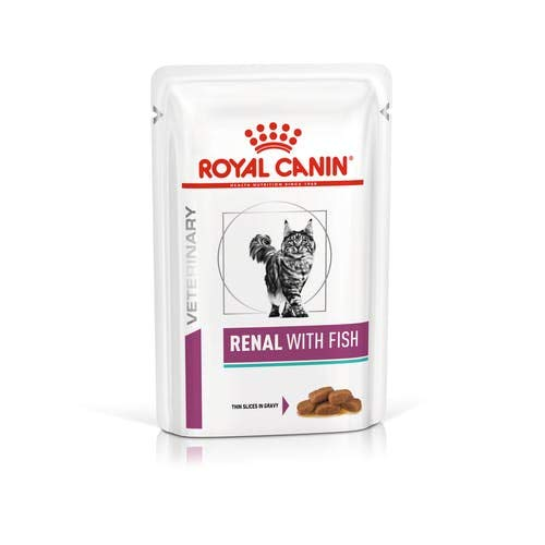 Royal Canin Renal Dieta veterinaria con tonno, Gatti, 85 g, Pacco da 12