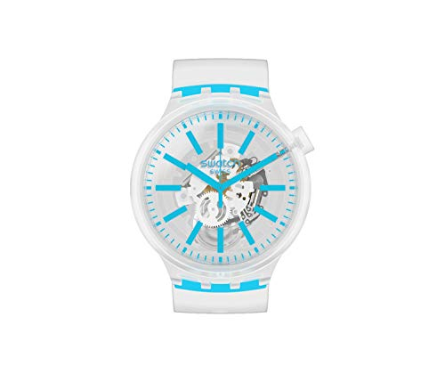 Swatch SO27E105 Armband-Uhr Big Bold Blueinjelly Analog Quarz
