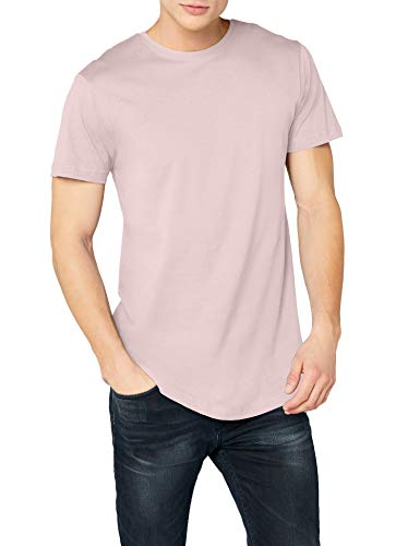 Urban Classics Herren Shaped Long Tee T-Shirt, Pink (pink), XL
