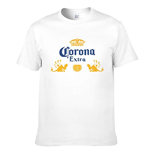 Corona Extra Beer Funny T Shirt para hombres verano Casual Slim Fit algodón Tee
