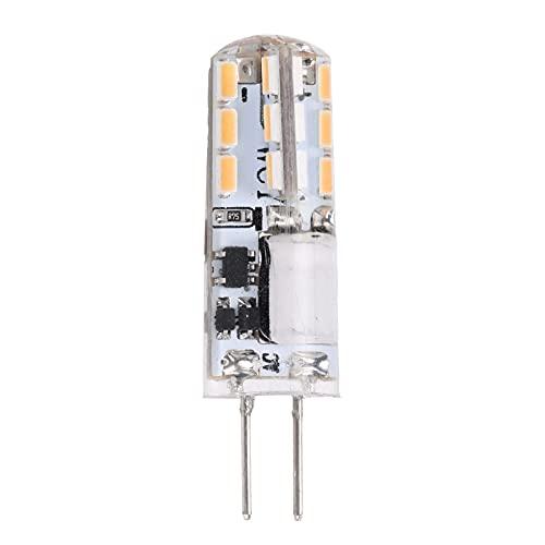 Hapivida Bombillas LED G4 2W 12V AC/DC Mini Bombillas Cápsula Lámpara G4 Equivalente 200lm Base Bi-Pin Tipo J-C Ahorro de Energía Sin Parpadeo No Regulable para Iluminación (Blanco cálido)
