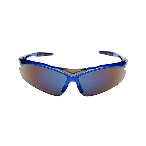Deportes gafas de sol, manswill al aire libre cortavientos polarizadas gafas Set, de protección UV400para ciclismo esquí Running conducción Golf pesca Superlight marco unisex diseño con 5lentes Color, hombre, azul