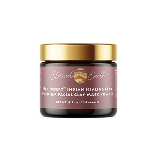 Red Desert Indian Healing Clay - Luxurious, Spa Quaility Premium Facial Clay Mask Powder 4.5 oz - Deep Pore Cleansing and Mineral Rich for All Skin Types