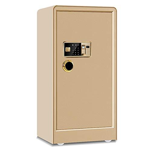 Kabinettsafes Password Lock Box oder Fingerabdruck-Safe Schränke Stahlbau for Home Office Hotels für den Einsatz zu Hause oder im Büro (Color : Gold A, Size : 50X44X100CM)