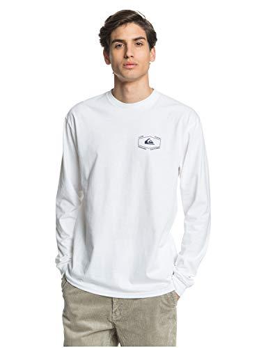 Quiksilver - Camiseta de manga larga para hombre - blanco - XX-Large