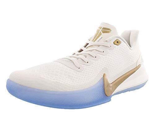 Nike Herren Mamba Focus Basketballschuhe, Mehrfarbig (Phantom/Metallic Gold 4), 45 EU
