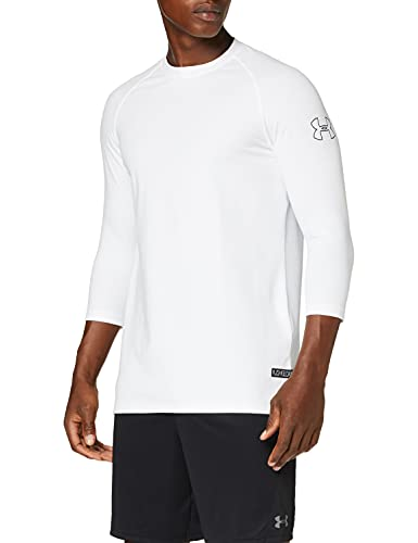 Under Armour UA Baseline Half Sleeve Tanque de Baloncesto, Hombre, Blanco (White/Mod Gray/Black 100), L